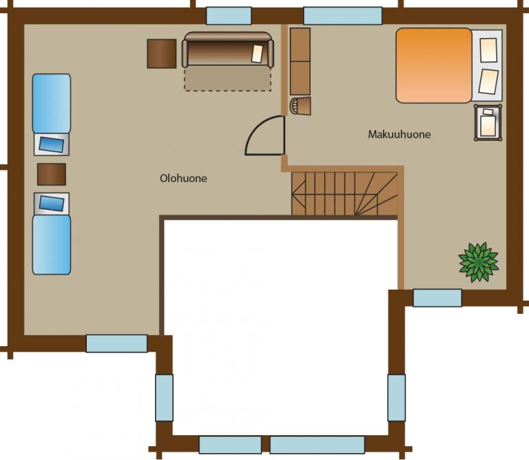 pohjakuva villa 1 vuokatti majoitus