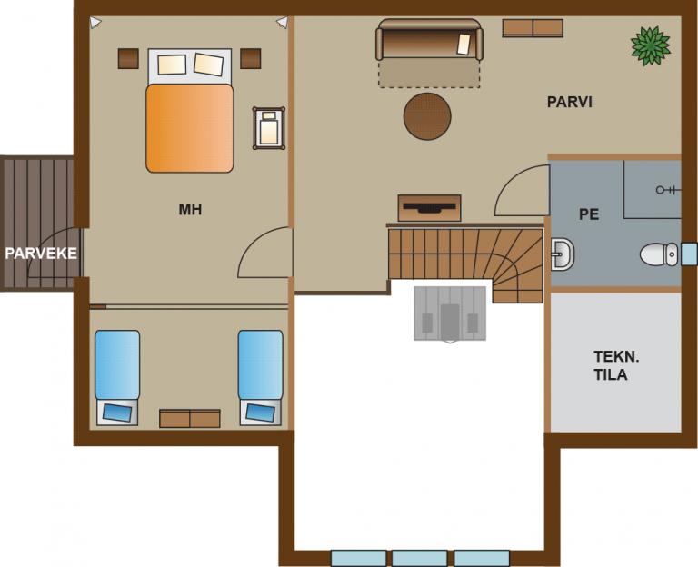 pohjakuva villa 2 vuokatti majoitus